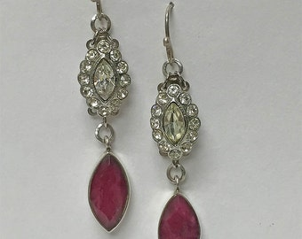 Ruby's Rhinestone Earrings