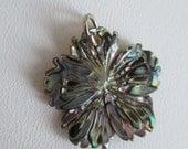 Abalone Shell Plumeria Flower Charm