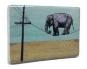 Elephant Fridge Magnet / Tightrope Elephant Magnet / Elephant Art Magnet / Elephant Kitchen Decor / Fun Fridge Magnet / Cool Fridge Magnets