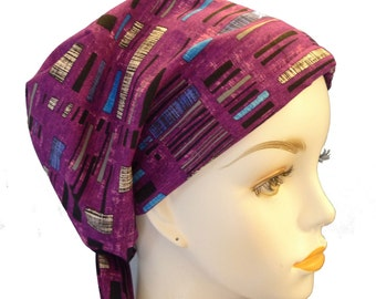 Colorful Urban Contemporary English Traditions Chemo Scarves Cancer Hair Loss Scarf Turban Hat