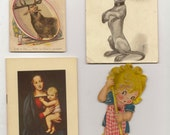 Eight Paper Ephemera Animals Girls Madonna Great for Altered Art Projects