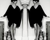 SALE 20% BABOOSHKA  Asymmetrical Oversized T-Shirt Dress