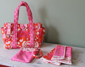 Watermelon Wishes Custom Diaper Bag Set