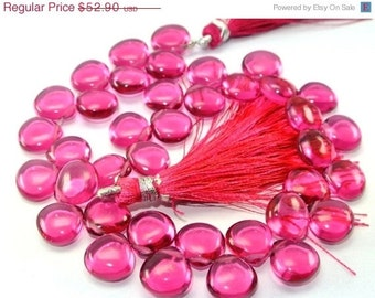 55% OFF SALE On Sale Full 8 Inches - AAA Rubelite Pink Quartz Smooth Heart Briolettes Size 10x10mm approx.