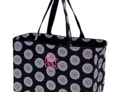Extra large Utility Tote Bag with Free Monogram