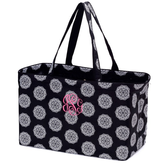 large utility tote bag with free monogram