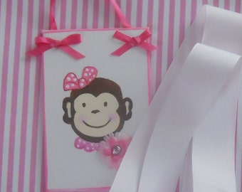 Monkey Hair Bow Holder