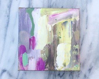 Original abstract painting on Canvas small abstract 6x6