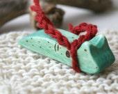 Wood n Wool Friend- Slug (ready to ship)