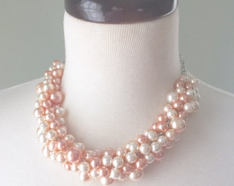 Bubbly Necklace - Blush Pink