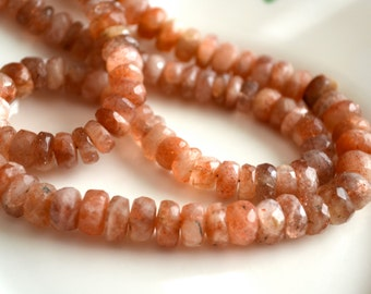 Sunstone Faceted Rondelles 15