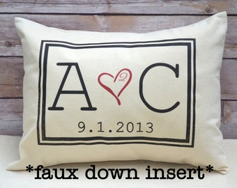 Personalized Couples, 2nd anniversary gift, valentine gift, romantic 2 year gift, monogram, Cotton anniversary, gift for her, gift for him2