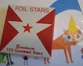 dennison foil star stickers