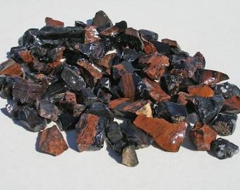 GB-500 3+ Lbs Rock Tumbling Rough Mahogany Obsidian Rock Tumbling Supplies