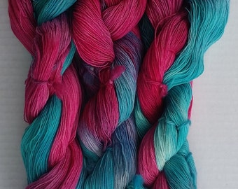Divine Merino Lace Yarn Hand Dyed Color #49 Approx 70 - 100g/ 630 - 900m