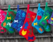 Custom Order for donnarohs 9 Large Customized Felt Christmas Stockings