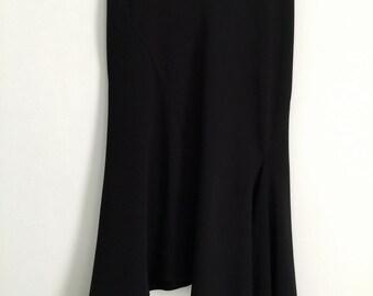 Black vintage nineties fishtail skirt *30% OFF*