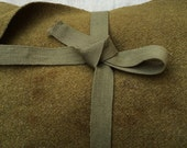 c. 1940s - 50s US Army issue distressed olive drab wool blanket