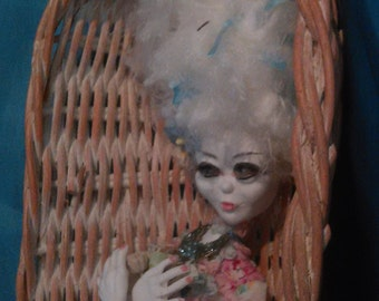 Memento Mori posable Art Doll by Moninesfaeries