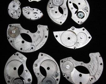 Destash Steampunk Watch Clock Parts Movements Plates Art Grab Bag RD 40