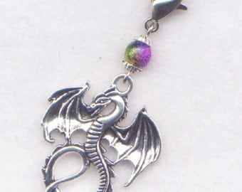 Dragon Stitch Marker Clip Smaug Puff Magic Mythical Dragons Charm Single /SM57A