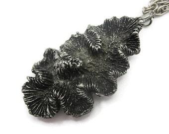 Brutalist Jewelry - Modernist Pendant, Metzke Pewter