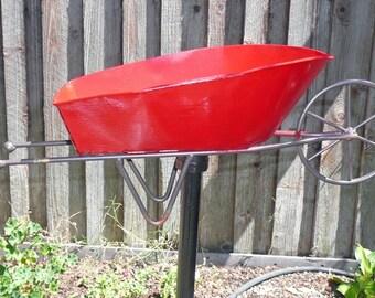 Yard Art - Red Wheelbarrow Feeder