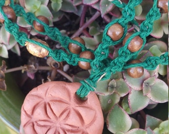 Seed of Life Essential Oil Diffuser Necklace