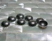 NEW! 13mm Bead Caps 2pcs Antiqued Silver Plated Brass Base Acorn Caps/Findings Silver Metal Jewelry Jewellery Craft Supplies Findings