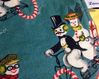 SALE Happy Little Snowmen Drool Bib