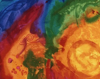 Swirl Texture Rainbow Fantasia Timeless Treasures Fabric 1 yard