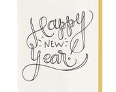 Happy New Year Script - Letterpress Greeting