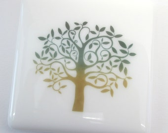 Tree of Life coaster, glass coffee tea mats, bar coasters, wine glass mat, bottle stand, woodland wedding gift, country lover spiritual gift