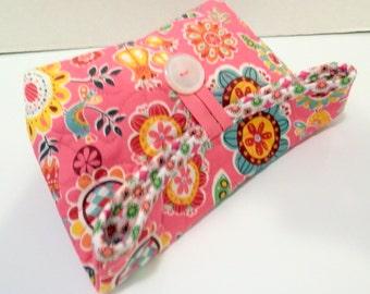 Foldover Bag/Pink Floral