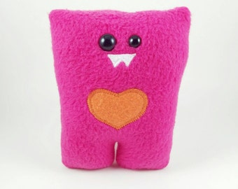 Magenta Pink Nubbin - Custom Color Heart - Made To Order