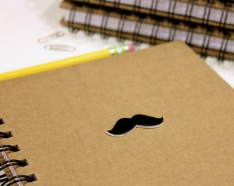 Moustache A5 Notebook  //  Moustache A5 Notebook  //  Movember Notebook  //  Lined Notebook  //  Moustache Journal