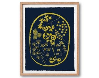 Botanical art print, Botanical illustration, Florist art print, Floral illustration, flower illustration kitchen wall decor