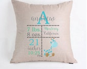 Personalized Birth Announcement Baby Infant Pillow Cover Pillow Case