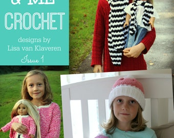 Download Now - CROCHET PATTERN Dolly and Me CROCHET - Issue 1 - 16 page eBook Including 3 Designs