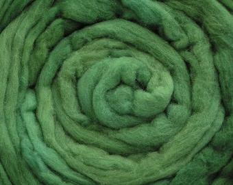 200g Acid Dyed Merino D'Arles Wool Top -  Spruce