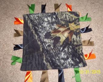 Camoflauge/Hunting Fleece Ribbon Blanket