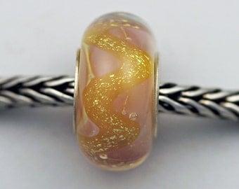 OOAKK Silvered Glimmer Bead  - European Charm Bracelet Bead (SEPT-07)