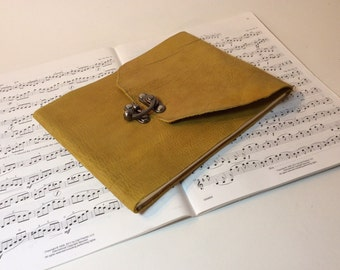 Leather Song writer's notebook /sheet music journal /music lover's journal
