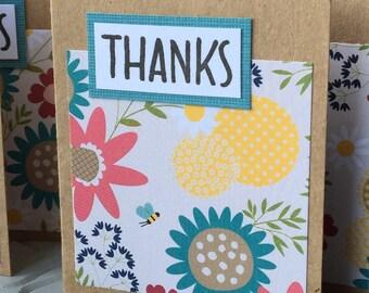 Mini Thank You Notes - set of 8