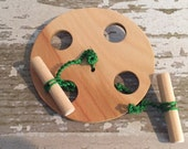 Toy Spinning Wheel - Handcrafted Wooden Toy Spinning Wheel - Exercise Wheel - Buzz Saw - Folk Toy