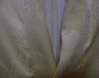 Vintage kimono S67, silk, yellow