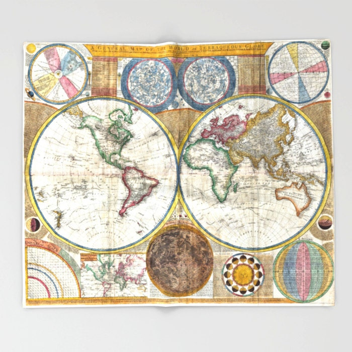 Old world map throw blanket super soft blanket home decor old world map throw blanket super soft blanket home decor ancient map blanket antique map blanket office throwvintage map blanketdorm gumiabroncs Image collections