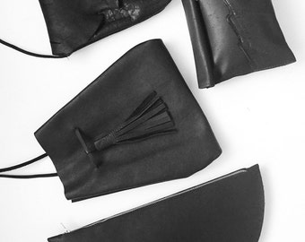 Midnight Leather Pouch