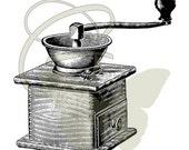 Coffee Grinder Digital Vintage Illustration Image Transfer Image Download Printable Graphic Clip Art 305