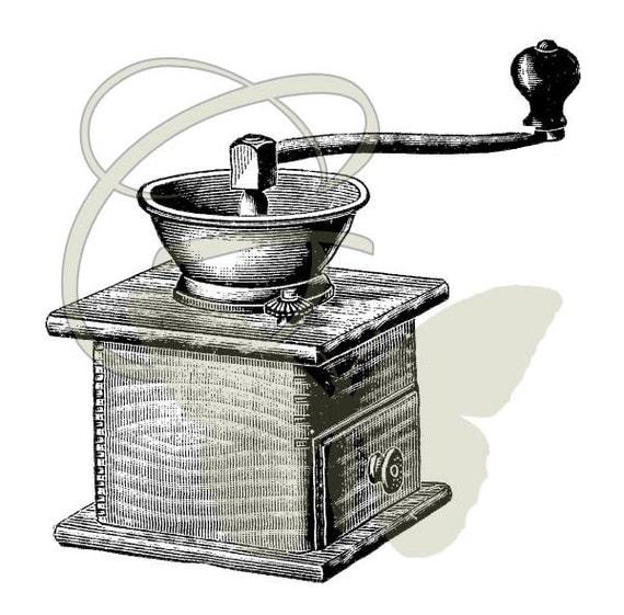 Coffee Grinder Clip Art ~ Coffee grinder artwork download digital antique illustration